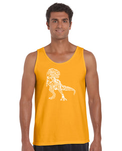 LA Pop Art Men's Word Art Tank Top - Dino Pics