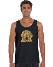 Load image into Gallery viewer, LA Pop Art Men's Word Art Tank Top - Dog