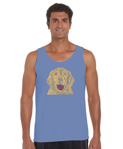 LA Pop Art Men's Word Art Tank Top - Dog