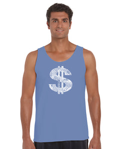 LA Pop Art Men's Word Art Tank Top - Dollar Sign