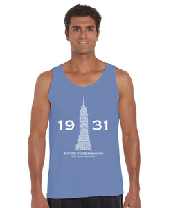 LA Pop Art Men's Word Art Tank Top - Empire State Building