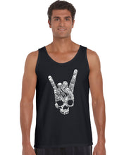 Load image into Gallery viewer, LA Pop Art Men's Word Art Tank Top - Heavy Metal Genres
