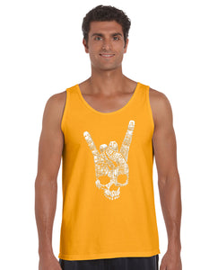 LA Pop Art Men's Word Art Tank Top - Heavy Metal Genres