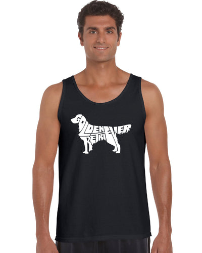 LA Pop Art  Men's Word Art Tank Top - Golden Retreiver