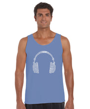 Load image into Gallery viewer, LA Pop Art Men's Word Art Tank Top - 63 DIFFERENT GENRES OF MUSIC