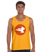 Load image into Gallery viewer, LA Pop Art Men's Word Art Tank Top - Types of Martial Arts
