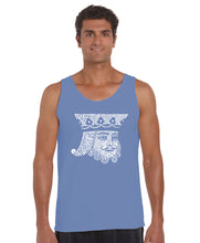 Load image into Gallery viewer, LA Pop Art Men's Word Art Tank Top - King of Spades