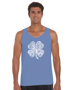 LA Pop Art Men's Word Art Tank Top - Feeling Lucky