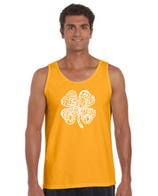Load image into Gallery viewer, LA Pop Art Men's Word Art Tank Top - Feeling Lucky