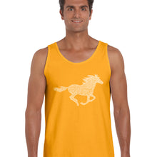 Load image into Gallery viewer, LA Pop Art  Men's Word Art Tank Top - Horse Breeds