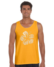 Load image into Gallery viewer, LA Pop Art Men's Word Art Tank Top - Mahalo