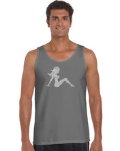 Load image into Gallery viewer, LA Pop Art Men's Word Art Tank Top - MUDFLAP GIRL