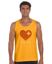 Load image into Gallery viewer, LA Pop Art Men's Word Art Tank Top - Nurses Rock