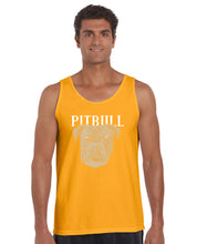 Load image into Gallery viewer, LA Pop Art Men's Word Art Tank Top - Pitbull Face