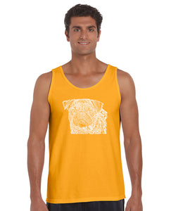 LA Pop Art Men's Word Art Tank Top - Pug Face