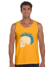 Load image into Gallery viewer, LA Pop Art Men's Word Art Tank Top - Punk Mohawk