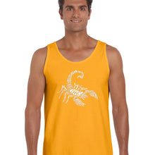 Load image into Gallery viewer, LA Pop Art  Men's Word Art Tank Top - Types of Scorpions