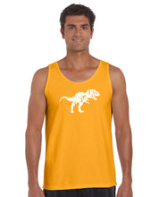 Load image into Gallery viewer, LA Pop Art Men's Word Art Tank Top - TYRANNOSAURUS REX