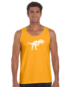 LA Pop Art Men's Word Art Tank Top - TYRANNOSAURUS REX