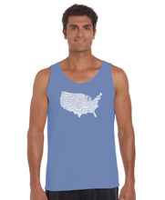 Load image into Gallery viewer, LA Pop Art Men's Word Art Tank Top - THE STAR SPANGLED BANNER