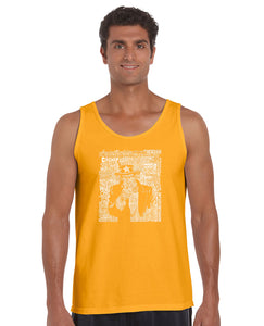 LA Pop Art Men's Word Art Tank Top - UNCLE SAM