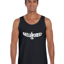 Load image into Gallery viewer, LA Pop Art  Men's Word Art Tank Top - Wild and Free Eagle