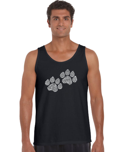 LA Pop Art  Men's Word Art Tank Top - Woof Paw Prints