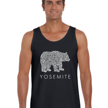 Load image into Gallery viewer, LA Pop Art  Men's Word Art Tank Top - Yosemite Bear