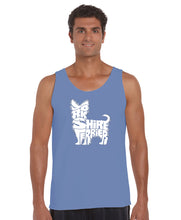 Load image into Gallery viewer, LA Pop Art Men's Word Art Tank Top - Yorkie