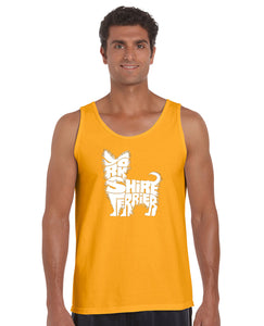 LA Pop Art Men's Word Art Tank Top - Yorkie
