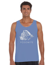 Load image into Gallery viewer, LA Pop Art  Men's Word Art Tank Top - Yosemite