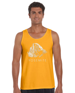 LA Pop Art  Men's Word Art Tank Top - Yosemite