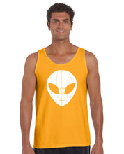Load image into Gallery viewer, LA Pop Art Men's Word Art Tank Top - I COME IN PEACE