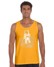 Load image into Gallery viewer, LA Pop Art Men's Word Art Tank Top - ASTRONAUT