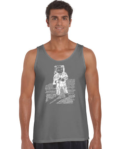 LA Pop Art Men's Word Art Tank Top - ASTRONAUT