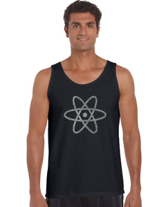 LA Pop Art Men's Word Art Tank Top - ATOM