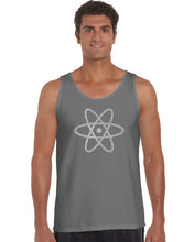 Load image into Gallery viewer, LA Pop Art Men's Word Art Tank Top - ATOM