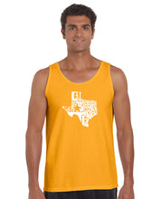 Load image into Gallery viewer, LA Pop Art Men's Word Art Tank Top - Everything is Bigger in Texas