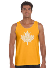 Load image into Gallery viewer, LA Pop Art Men's Word Art Tank Top - CANADIAN NATIONAL ANTHEM