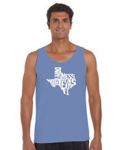 Load image into Gallery viewer, LA Pop Art Men's Word Art Tank Top - DONT MESS WITH TEXAS