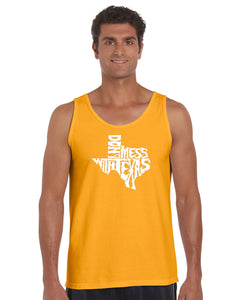 LA Pop Art Men's Word Art Tank Top - DONT MESS WITH TEXAS