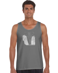 LA Pop Art Men's Word Art Tank Top - ELEPHANT