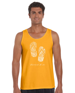 LA Pop Art Men's Word Art Tank Top - BEACH BUM