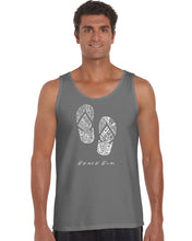 Load image into Gallery viewer, LA Pop Art Men's Word Art Tank Top - BEACH BUM