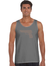 Load image into Gallery viewer, LA Pop Art Men's Word Art Tank Top - RIGHT TO BEAR ARMS