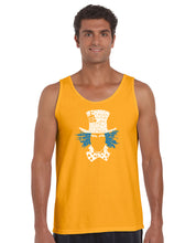 Load image into Gallery viewer, LA Pop Art Men's Word Art Tank Top - The Mad Hatter