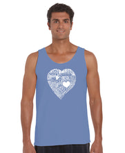 Load image into Gallery viewer, LA Pop Art Men's Word Art Tank Top - LOVE IN 44 DIFFERENT LANGUAGES