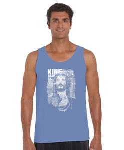 LA Pop Art Men's Word Art Tank Top - JESUS