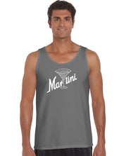 Load image into Gallery viewer, LA Pop Art Men's Word Art Tank Top - Martini