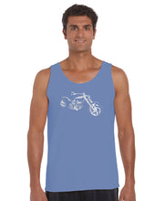 Load image into Gallery viewer, LA Pop Art Men's Word Art Tank Top - MOTORCYCLE